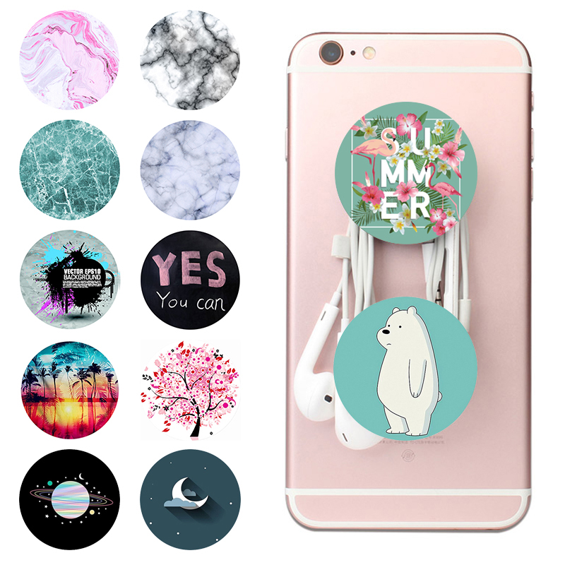 Popsoket Gasbag Phone Holder Popsocet Cute Bear Round Smartphones And Tablets Pops Ring Expanding попсокет Grip Pocket Socket