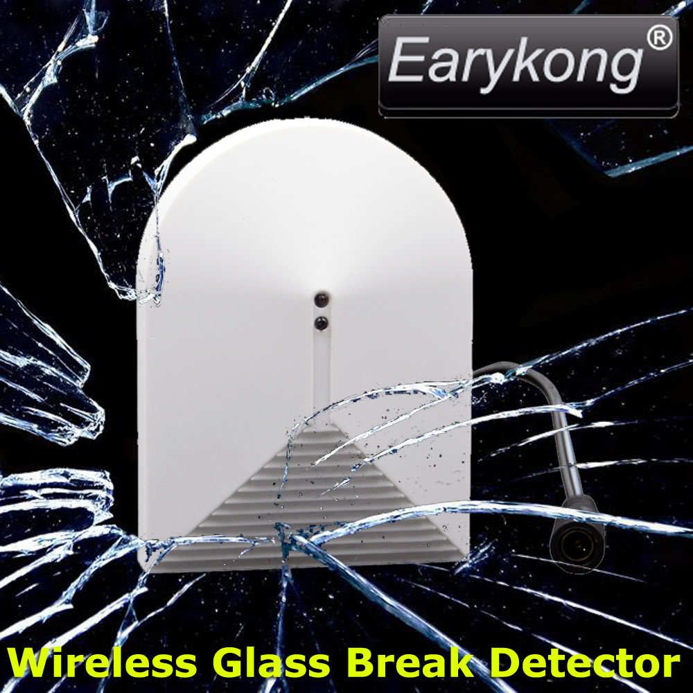 433Mhz Wireless Glass Break Detector, DC 12V Work, Vibration Detector, For Home Burglar Alarm System, wireless vibration break breakage glass sensor detector 433mhz for alarm system