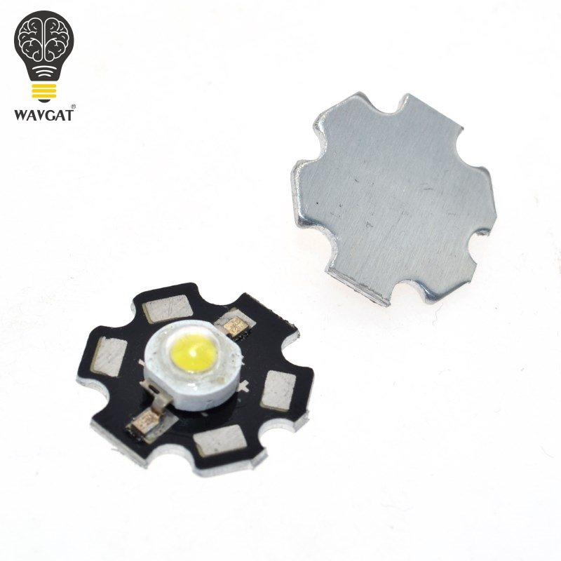 WAVGAT 10PCS Real Original Epistar Chip 3W LED Bulb Diodes Lamp 220lm-240lm White LED Bulbs Light 20MM 700MA 3.2-3.4V