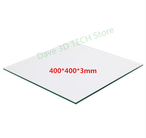 400x400x3mm Borosilicate Glass Plate Bed for DIY Creality CR-10 Tarantula I3 3D Printer400x400x3mm Borosilicate Glass Plate Bed for DIY Creality CR-10 Tarantula I3 3D Printer