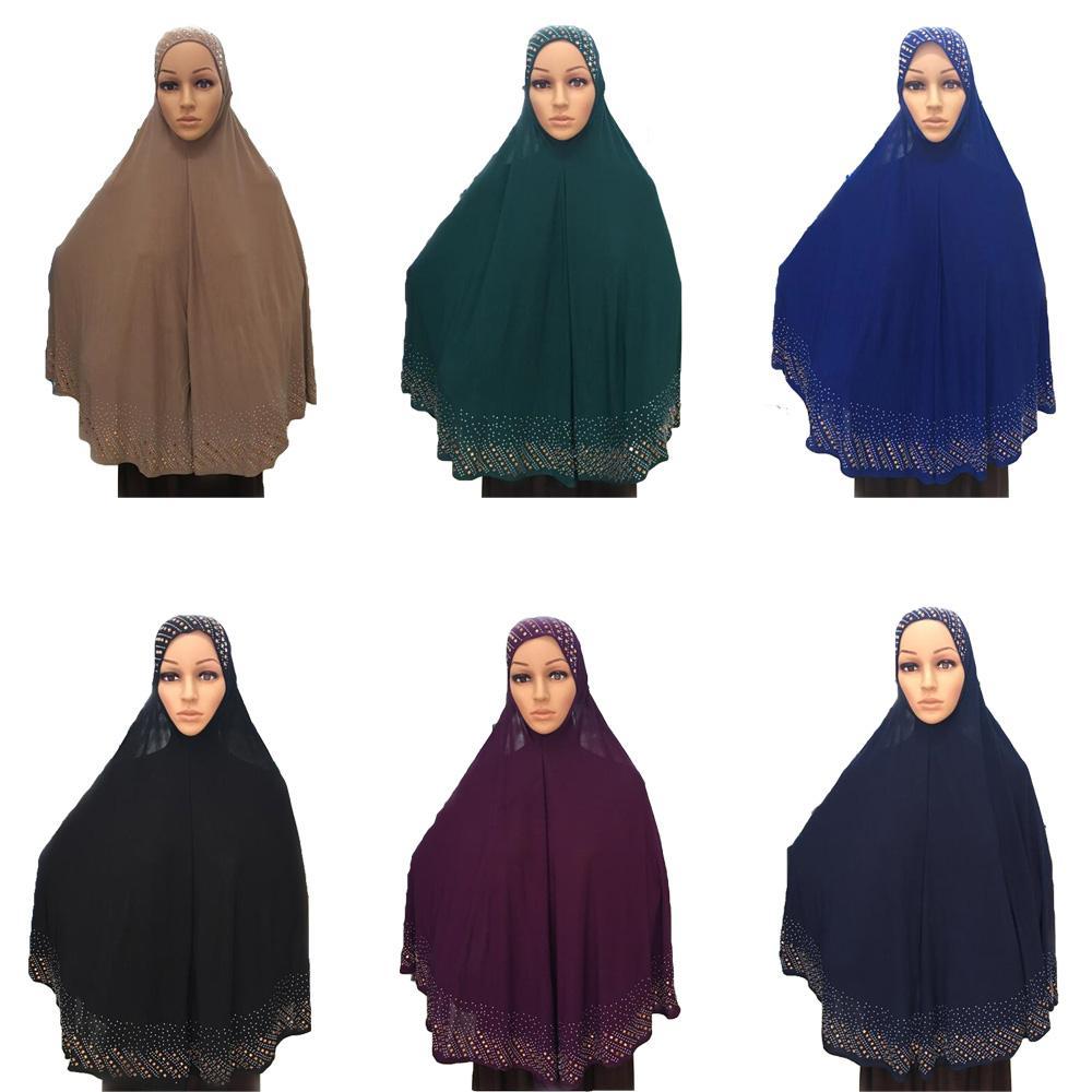 Islamic Prayer Hat Hijab Muslim Women Khimar Amira Overhead Scarf Arab Headscarf Islamic Head Wrap Turban Full Cover Hijab New