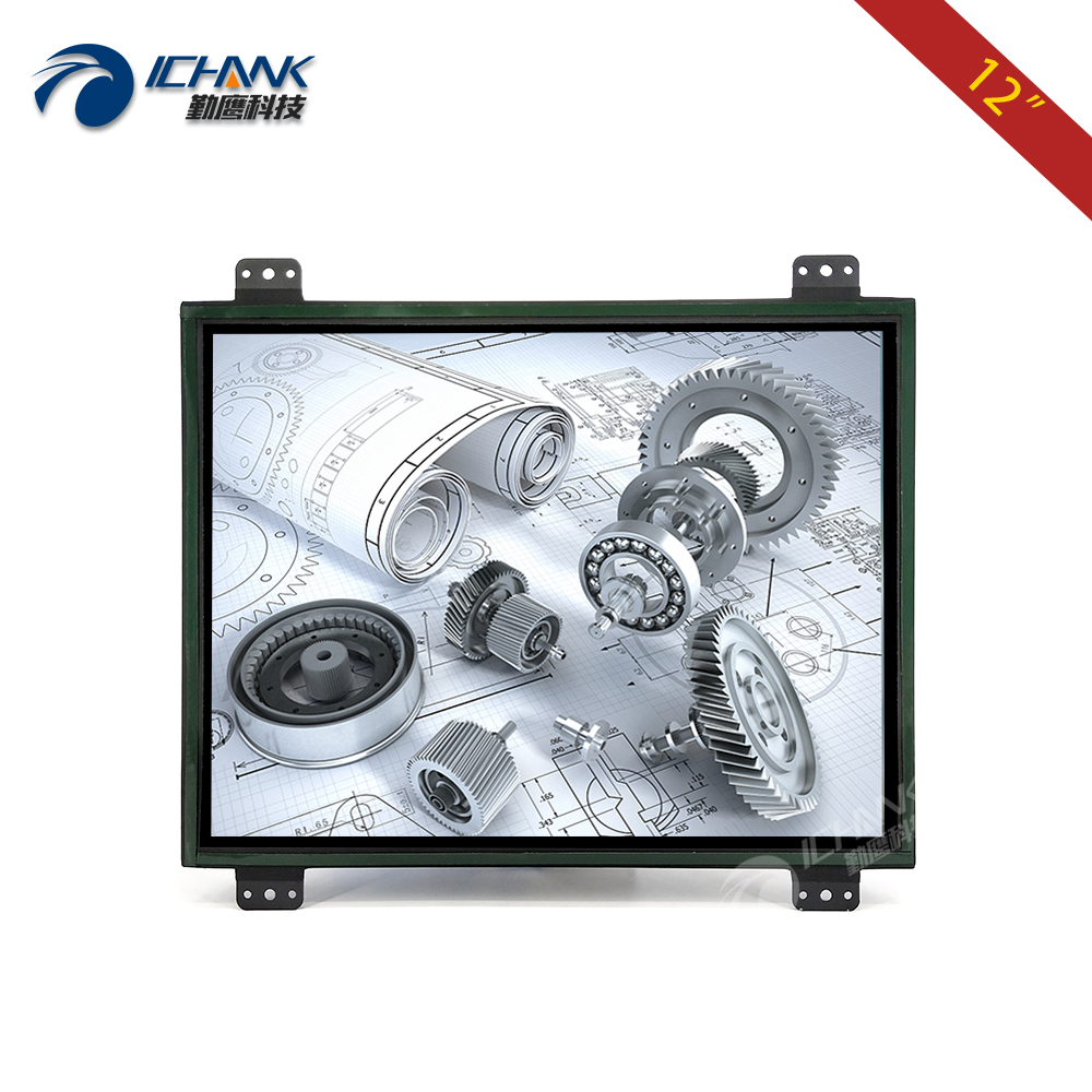 ZK120TN-DV2/12inch 1024x768 4:3 Metal Shell DVI VGA Embedded Open Frame Industrial Equipment Special Monitor LCD Screen DisplayZK120TN-DV2/12inch 1024x768 4:3 Metal Shell DVI VGA Embedded Open Frame Industrial Equipment Special Monitor LCD Screen Display