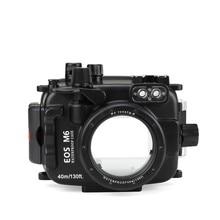 SeaFrogs 40 м/130ft подводный Камера Корпус чехол для Canon EOS M6 22 мм объектив Водонепроницаемый Камера сумки для Canon EOS M6 22 мм