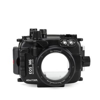 SeaFrogs 40m/130ft Underwater Diving Camera Housing Case For Canon EOS M6 22mm Lens Waterproof Camera Bags For Canon EOS M6 22mm