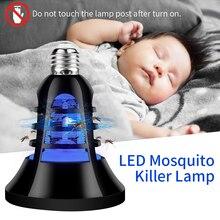 Elektrik Mosquito Killer Lamp USB 5V Anti mosquito Trap E27 220V LED Night Light Bug Insect killer Bulb Pest Repeller 110V