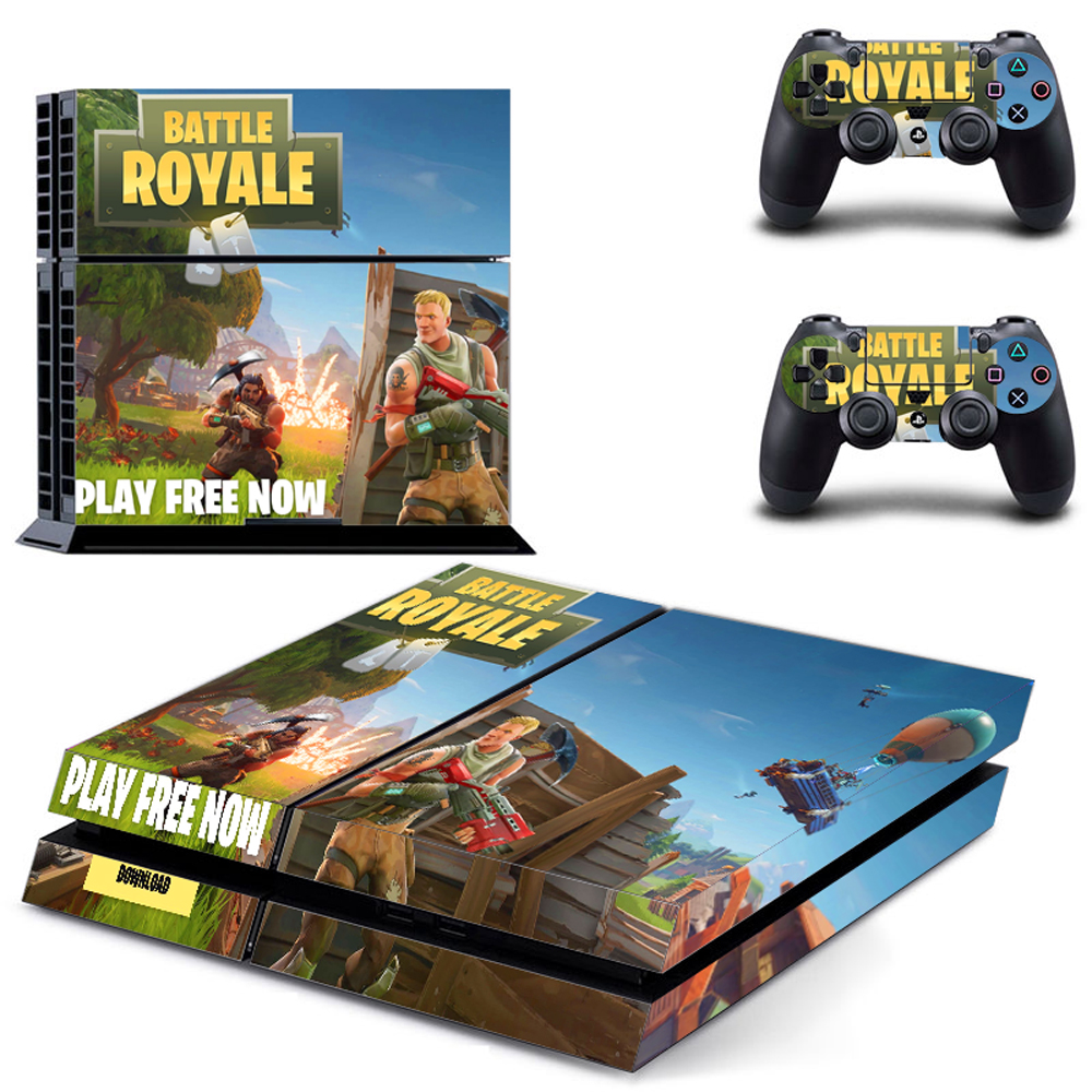 Fortnite Battle Royale For PS4 Vinyl Skin Sticker Cover For PS4 Playstation 4 Console + 2 Controller Decal Game Accessories