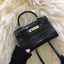 Мини 18 см Новая сумка ладонь рюкзак с фотоизображением тенденции моды шаблон пряжки квадратный через дикие дамы crossbody