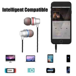 Image 3 - DUSZAKE In Ear Headphones For Xiaomi Earphone For Phone Stereo Bass Headset Metal Wired Earphone HiFi Headphones Mic for Samsung