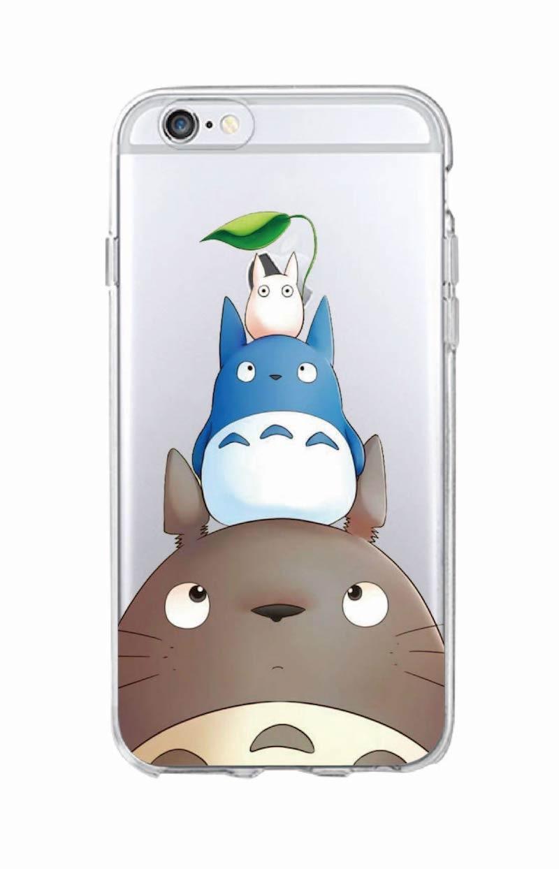 promo code 9da21 dde63 Cute Totoro Spirited Away Ghibli Miyazaki Anime Soft Clear Phone Case For  iPhone 7 7Plus 6 6S 5 5S 8 8Plus XS Max SAMSUNG