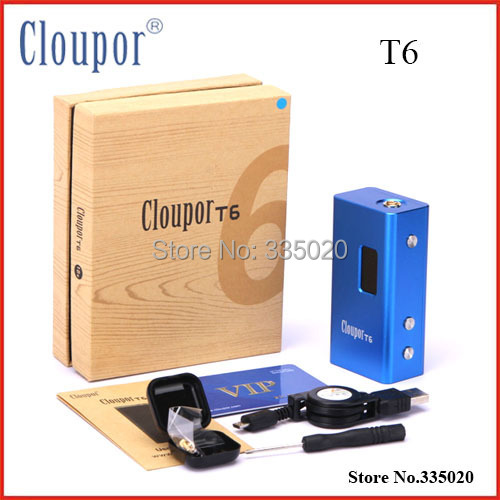 Original Cloupor T6 100w 26650 Mod Variable Voltage Box Mod Electronic Cigarette Mechanical Mods T6 tvs golden mechanical mod e cigarette
