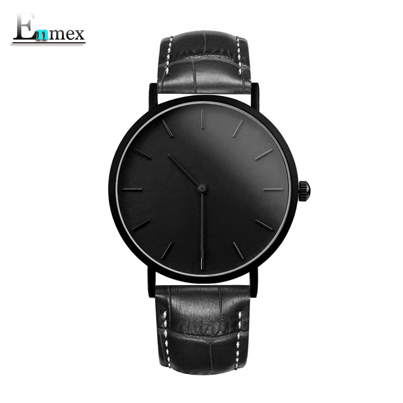 gift Enmex brief gentleman wristwatch Deployment buckle creative designs with Ultrathin case simple cool fashion quartz watches 2017 gift enmex creative simple design brief face with a red pointer steel band water prof young and fashion quartz watch