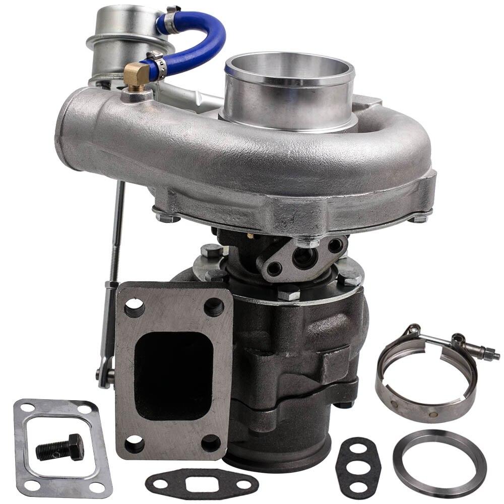 Universale Turbo T3 T4 T04E A/R. 50 A/R. 63 V-band Olio 2.0-3.5L AR/73 TRIM 420HP Turbina Compressore V-Band Flangia Turbocompressore