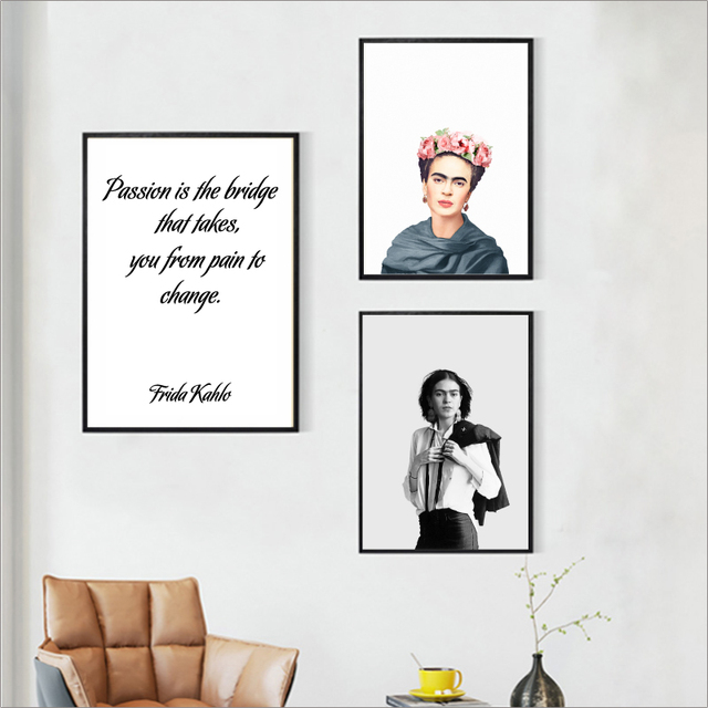 Fridaaa Kahlo Poster Art Prints Passion Quotes Canvas