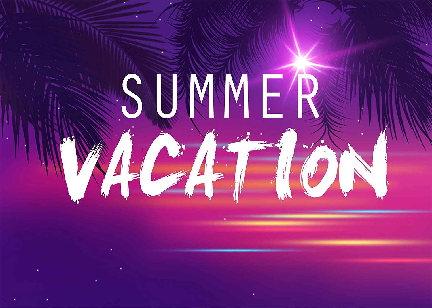 Image 4 - 7x5ft Summer Vacation Backdrop Ultra Violet Color Photo Backdrops Coconut Tree Branch Photography Background Studio Props-in Photo Studio Accessories from Consumer Electronics