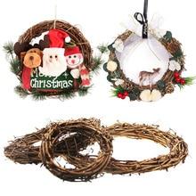 10cm 20cm 25cm 30cm Rattan Ring Artificial Flowers Garland Wedding Wreaths DIY Floral Home Christmas Decoration