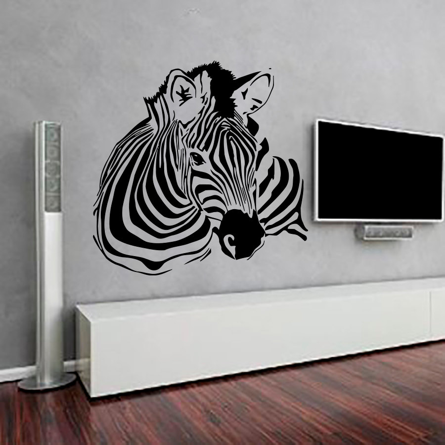 Superb High Quality Zebra Wall Stickers Living Room Removable Vinyl Self Adhesive  Animal Home Decor Art Murals Part 20