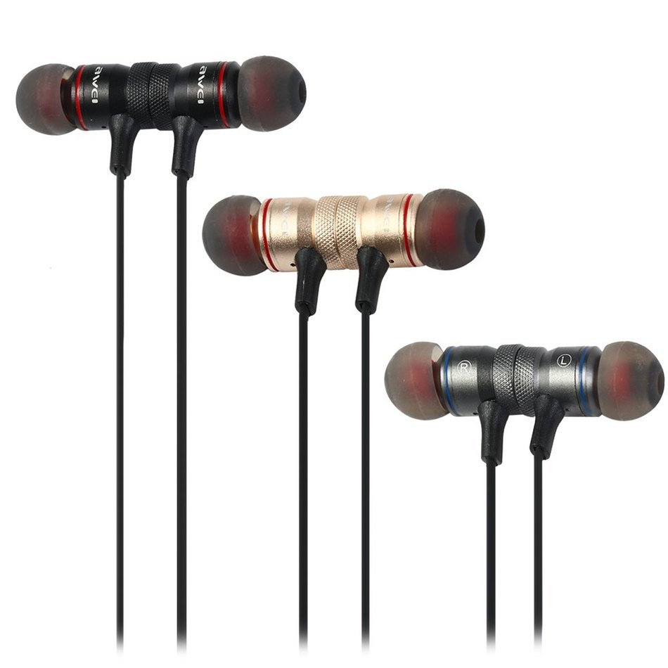 Original Awei A920BL In-ear Wireless Sports Earphone Bluetooth 4.1 Connection with Voice Noise Reduction Mic for Running Retail fpv 5 8g 14dbi high gain panel antenna rc multirotor airplanes antenna rp sma panel antenna for fix wing airplane boscam tx page 6