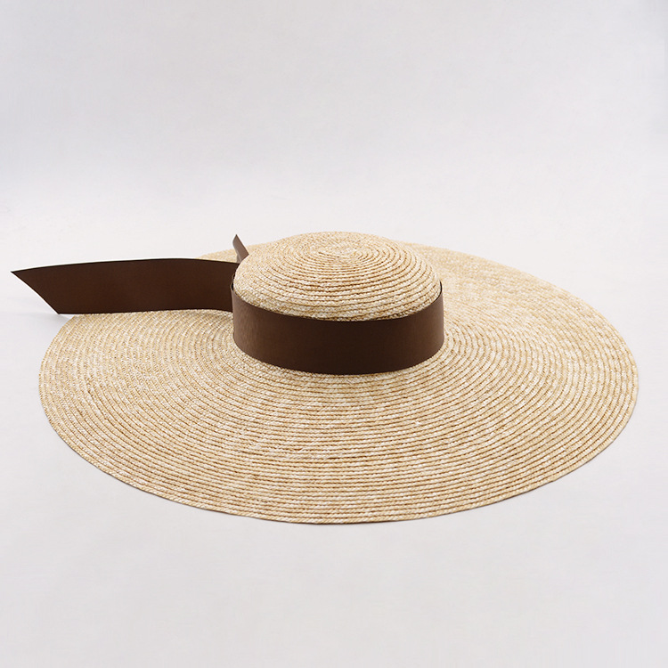 Details about Women s Vintage Sun Hat Large Brim Boater Hat Casual Straw  Summer Hat Braid Hat 6f6c1b1841ad
