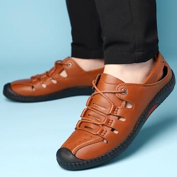 DXKZMCM Men Sandals Summer Men Shoes Beach Sandals Man Fashion Outdoor Casual Shoes