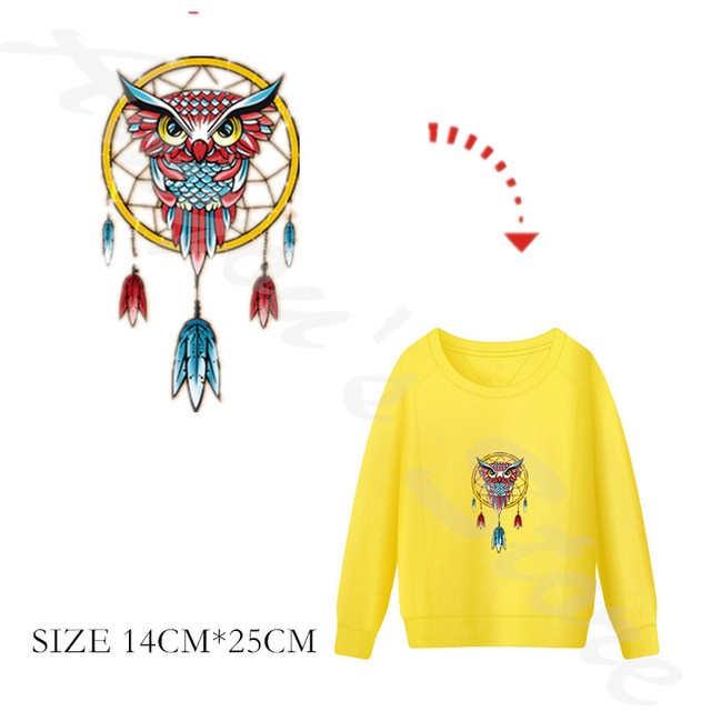 Cartoon búho India Dreamcatcher Parches para la ropa térmica ...