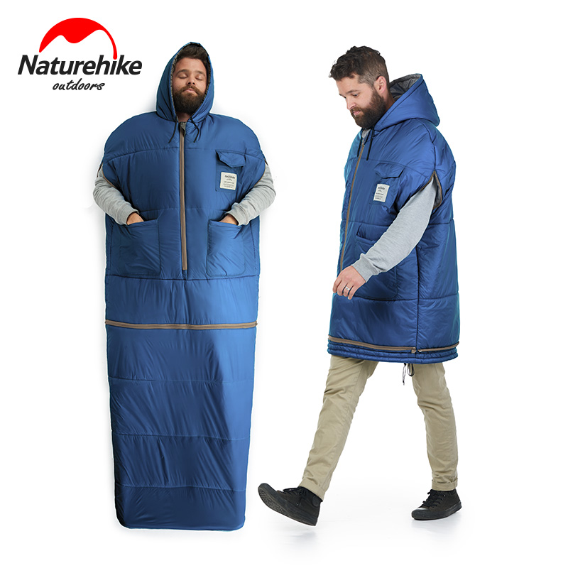 Jacket Style Removable Mummy Sleeping Bag 380T Nylon Waterproof Filling Down Cotton Sleeping Bags With Pocket Camping Winter