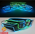 Quick Flashing El Led Glasses Luminous Party Lighting Colorful Glowing Classic Toys for Dj Bright Light Holiday Gift YH134