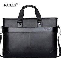 BAILLR Brand Men Pu Leather Business Briefcase Shoulder Bag Messenger Men S Handbag Cross Body Bag