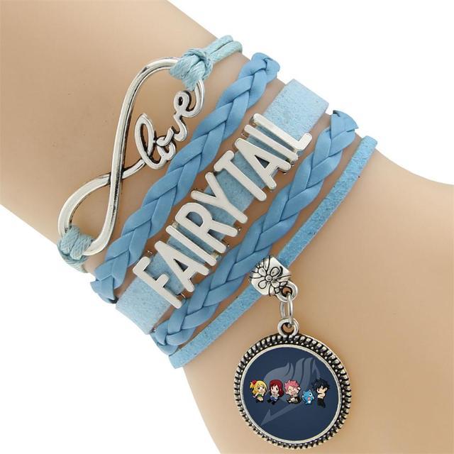 Fairy Tail Leather Charm Bracelet Bangle