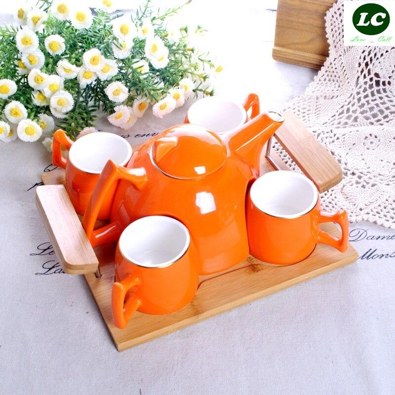 Набор для кофе и чая бутылки для воды Европейский керамический чайник для холодной воды креативный домашний фарфоровый чайник - 2