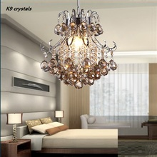 Modern led Pendant Lights Crystal K9 lustres de cristal Gold /Silver pendant  indoor Pendants Living Room Lamp