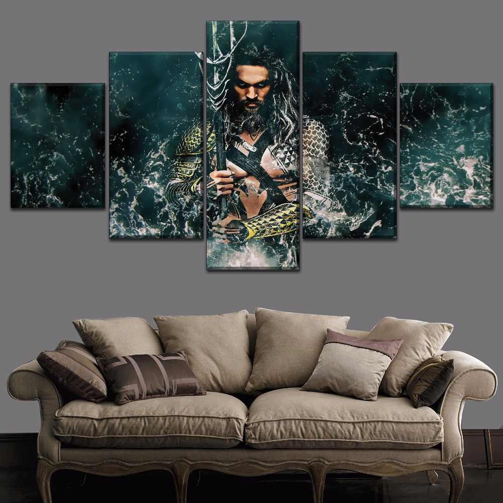Cópia Da Lona de Arte da parede Pintura Filme de Alta Qualidade Painel 1 Aquaman Poster Arte Decoração Home Moderna Sala de estar Ou no Quarto