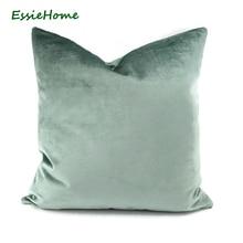 Luxary light Green Aqua  Velvet Cushion Cover Pillow Case Lumber