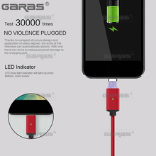 GARAS USB Type C/Micro USB/Lightning 3IN1 Magnetic Cable USB-C Fast Charger Adapter Magnet Cable For Ipad Mobile Phone Cables 2m