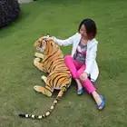 JESONN Giant Realistische Knuffels Tiger Grote Levensechte Knuffels voor kinderen Verjaardagscadeautjes - 6