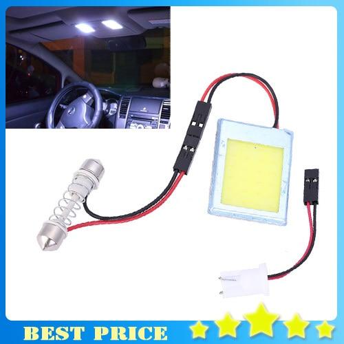 3W COB Chip LED 24 Led Smd Car Interior Light T10 Festoon Dome Adapter 12V Panel Light Auto Car Styling 0806