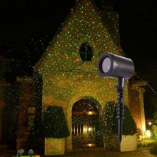 Outdoor Kerst Laser Projector Licht Rood Groen Star Moving Waterproof Laser Landschap Tuin LED Lamp Bruiloft Decor Douche