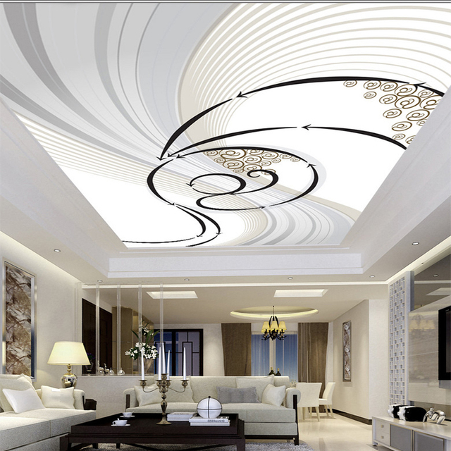 Modern Abstract Dynamic Zenith Pattern Design Ceiling