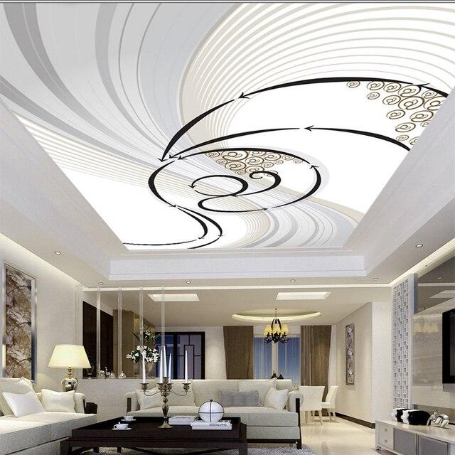 Moderne Abstrakte Dynamische Zenit Muster Design Decke Wandbild ...