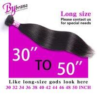 Bybrana 10A Hair 30 32 42 50 Inch One Bundle 40 Inch Brazilian Hair Single Bundles Cabelo Humano 34 Inch Bundles Hair Extension