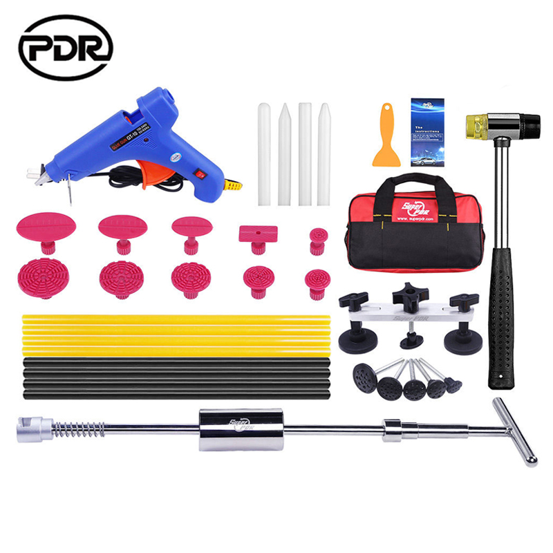 PDR Tools Paintless Dent Repair Tools Dent Removal Dent Puller Tool Kit Slide Hammer Reverse Hammer Fungi Glue Tabs Hammer Tools