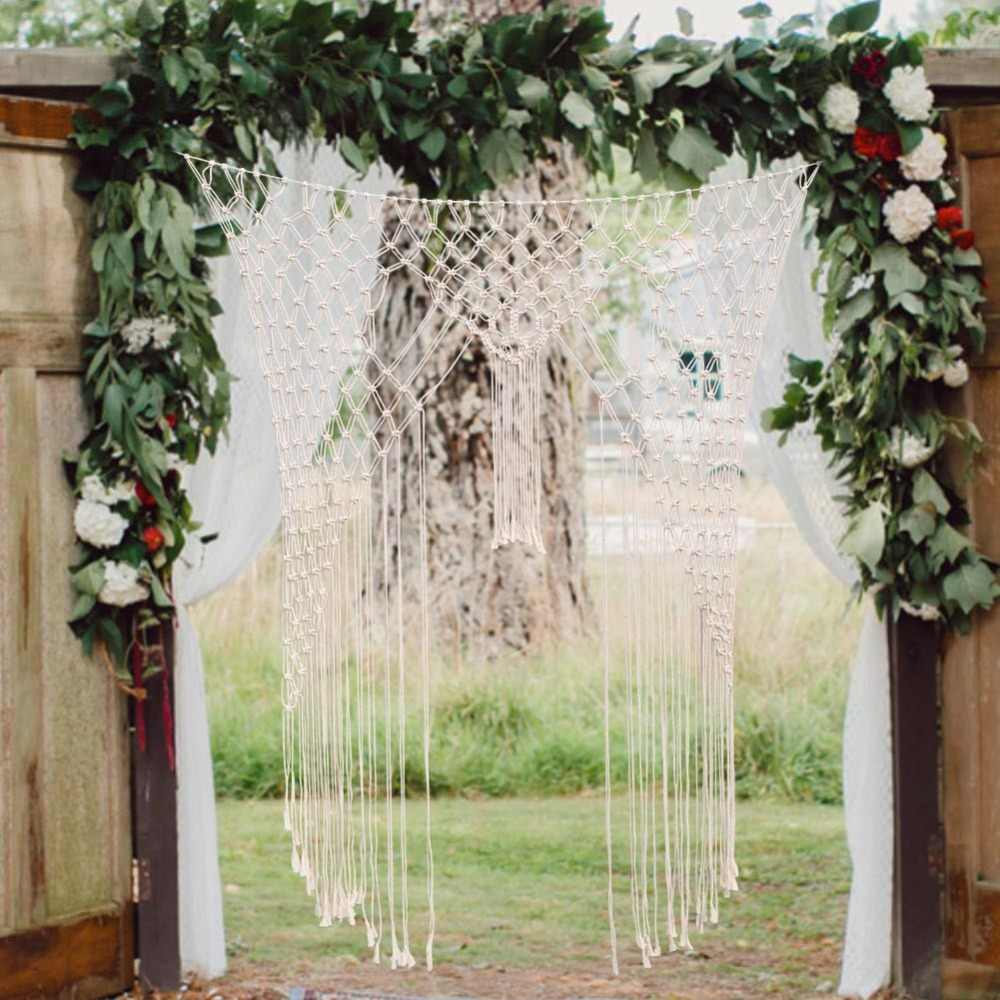 OurWarm Macrame Wedding Backdrop Decoration Boho Cotton Rope Photo Booth  Backdrop Wall Hanging Party DIY Supplies Party DIY Decorations  - AliExpress