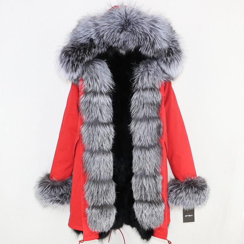 OFTBUY 2019 Winter Jacket Women Long Parka Real Fox Fur Coat Natural Raccoon Fur Collar Hood Thick Warm Streetwear Parkas New 47