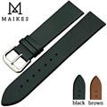 Maikes reloj del cuero genuino para delgado moda hombres y de mujeres correa de reloj 18 mm 20 mm 22 mm de cuarzo correa