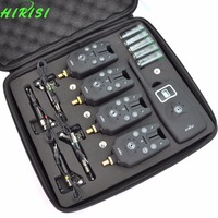 Wireless Fishing Bite Alarm 1 4 Set With 4pcs Illuminated Swinger In Aluminium Case For Carp