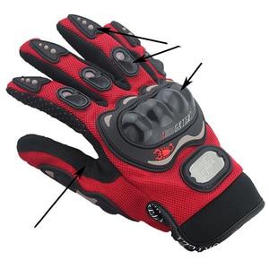 Image 5 - Breathable Gloves Leather Gloves Motorcycle Gloves Driving Road Bike Protective Gloves for Men