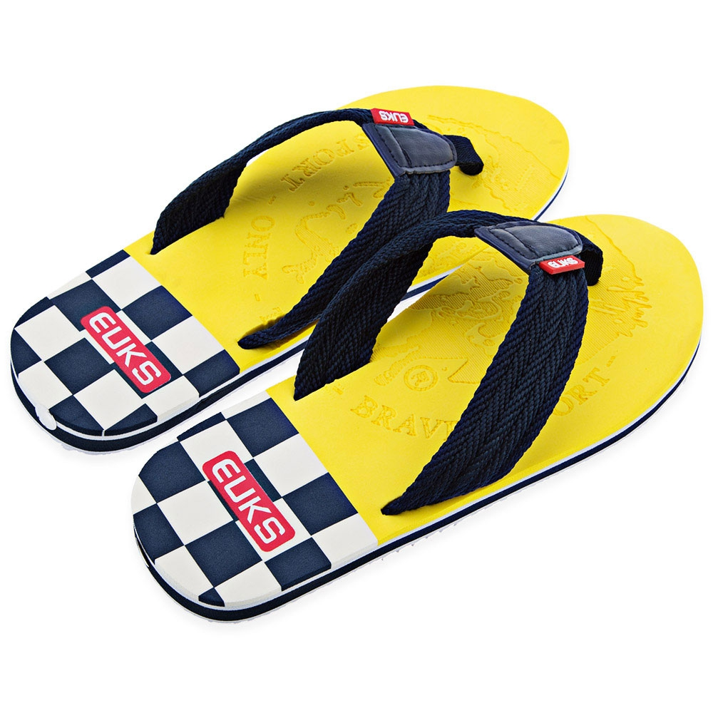 59ef5e3110c Guapabien Yellow Flipper Casual Male Color Block Skid Resistance Beach Flip  Flops Sandals Casual Summer Slippers Shoes Men-in Slippers from Shoes on ...