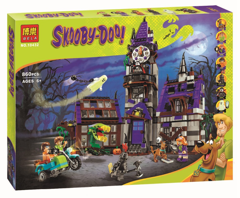 ФОТО Bela 10432 Scooby Doo Mysterious Ghost House Building Block Toys Compatible Any Blocks Lepin