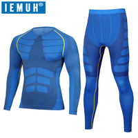 IEMUH New Winter Thermal Underwear Sets Men Brand Quick Dry Anti Microbial Stretch Men S Thermo