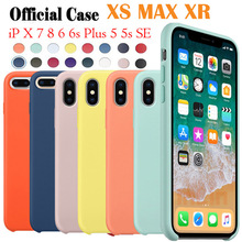 Have LOGO Original Official Style Silicone Case For iPhone X XS MAX XR For  apple Case 8a7c54daca4