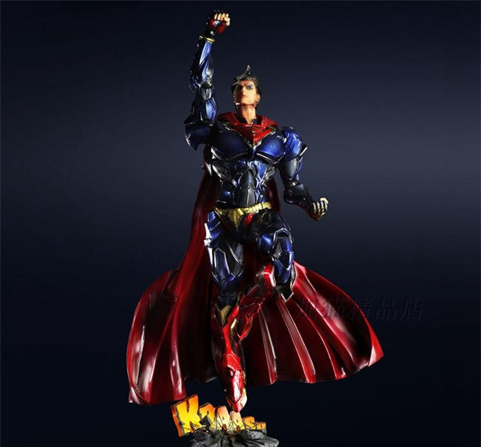 Play Arts Kai Super Man Superman Figure DC Figure SuperGIRL ARMOR Justice League PA 26cm PVC Action Figure Doll Toys Kids Gift diweini superman play arts kai action figure supergirl super woman collectible model toy pvc anime super man supergirl playarts
